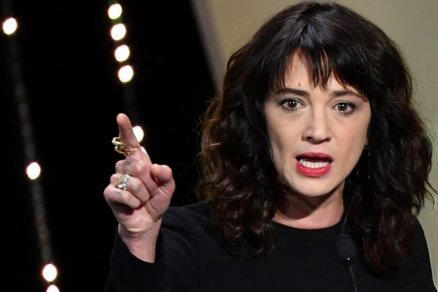 (FILES) In this file photo taken on May 19, 2018 Italian actress Asia Argento speaks on stage during the closing ceremony of the 71st edition of the Cannes Film Festival in Cannes, southern France.  The #MeToo campaign has proved an irresistible force since emerging from the carnage of Hollywood's abuse and harassment scandal -- dominating the conversation on sexual misconduct. But it finds itself facing its own backlash following abuse claims against Italian actress Asia Argento, one of its leaders and an early accuser of disgraced Hollywood mogul Harvey Weinstein. The New York Times reported on August 19, 2018 that Argento, 42, paid actor Jimmy Bennett $380,000 in hush money after having sex with him in Los Angeles hotel in 2013, when he was only 17 -- and still underage.  / AFP PHOTO / Alberto PIZZOLI