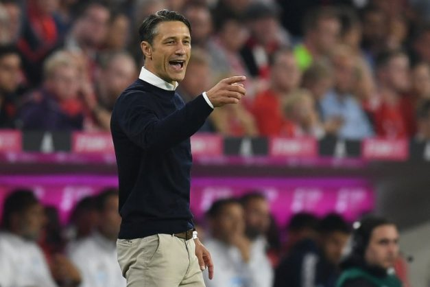 Bayern Munich's Croatian head coach Niko Kovac gestures from the sidelines during the German first division Bundesliga football match FC Bayern Munich v TSG 1899 Hoffenheim at the Allianz Arena in Munich, southern Germany on August 24, 2018. / AFP PHOTO / Christof STACHE / RESTRICTIONS: DFL REGULATIONS PROHIBIT ANY USE OF PHOTOGRAPHS AS IMAGE SEQUENCES AND/OR QUASI-VIDEO