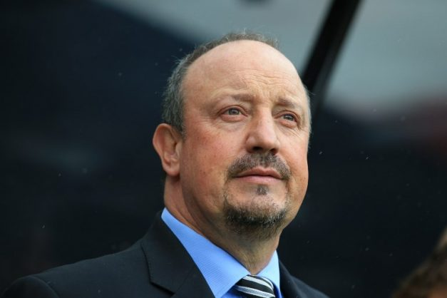 Newcastle United's Spanish manager Rafael Benitez is seen before kick off of the English Premier League football match between Newcastle United and Chelsea at St James' Park in Newcastle-upon-Tyne, north east England on August 26, 2018. / AFP PHOTO / Lindsey PARNABY / RESTRICTED TO EDITORIAL USE. No use with unauthorized audio, video, data, fixture lists, club/league logos or 'live' services. Online in-match use limited to 120 images. An additional 40 images may be used in extra time. No video emulation. Social media in-match use limited to 120 images. An additional 40 images may be used in extra time. No use in betting publications, games or single club/league/player publications. /