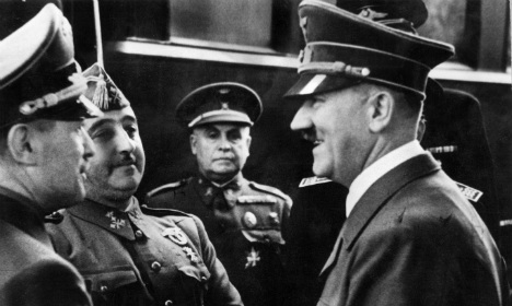 Hitler and Franco met at the station in Hendaye in October 1940 Photo: AFP