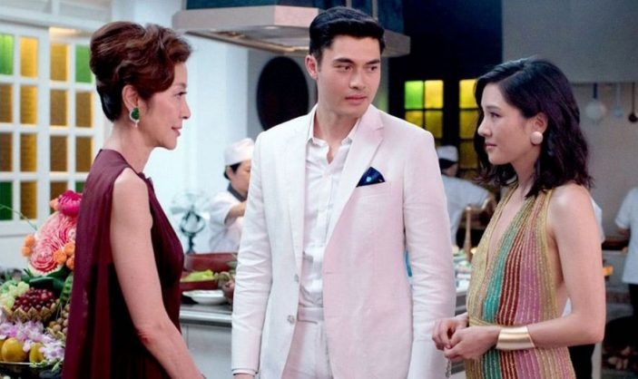 Michelle Yeoh, Constance Wu, and Henry Golding in Crazy Rich Asians. Picture: Warner Bros