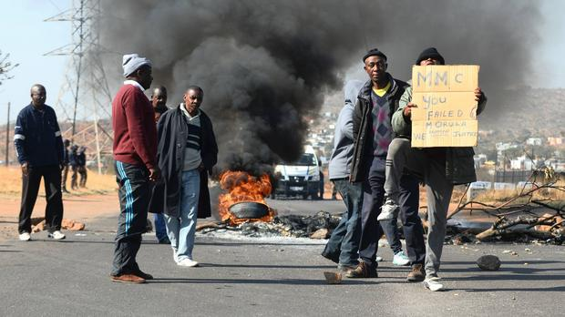 Angry Morula View residents. Picture: ANA.