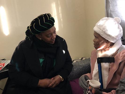 Human Settlements Minister Nomaindiya Mfeketo with Nonini ''Mandungwa'' Adonis. Picture: ANA
