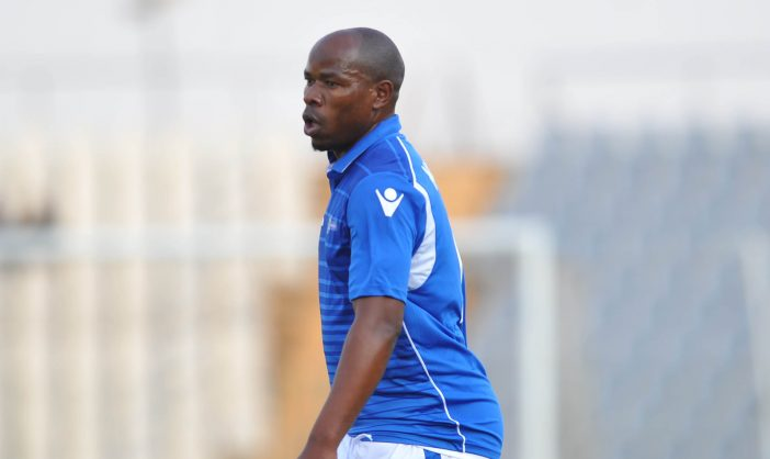 Collins Mbesuma of Maccabi FC  during the National First Division match between Maccabi FC and TS Sporting  at Dobsonville Stadium ( Pic Sydney Mahlangu/BackpagePix)