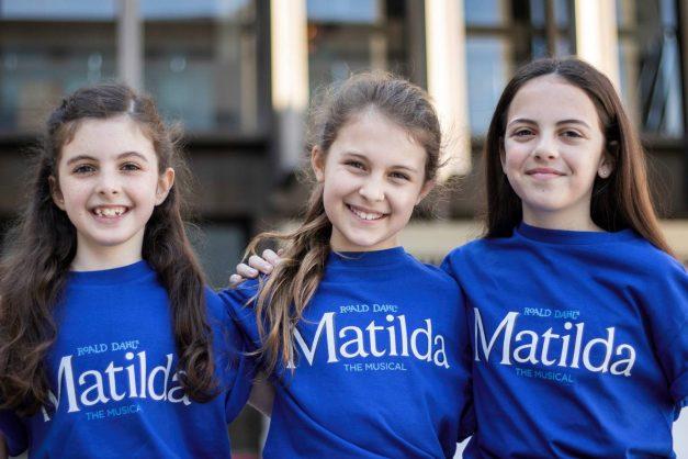 The three Matildas: Kitty Harris, Morgan Santo, Lilla Fleischmann