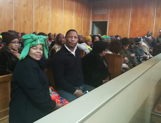 Some of the accused in the Nelson Mandela funeral fraud scandal in the dock at the East London Magistrate's Court, 22 August 2018. Picture: ANA
