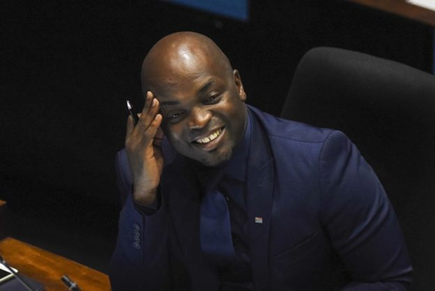 Tshwane Mayor Solly Msimanga at Tshwane City Chambers, 30 August 2018, during the sitting of the council. Picture: Nigel Sibanda