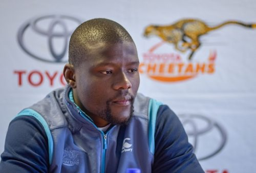 Oupa Mohoje captain of Toyota Cheetahs  during the Toyota Cheetahs media conference at Toyota Stadium on August 28, 2018 in Bloemfontein, South Africa. (Photo by Frikkie Kapp/Gallo Images)