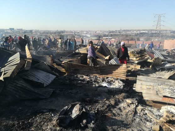 UPDATE: Shack fire displaces 250 people