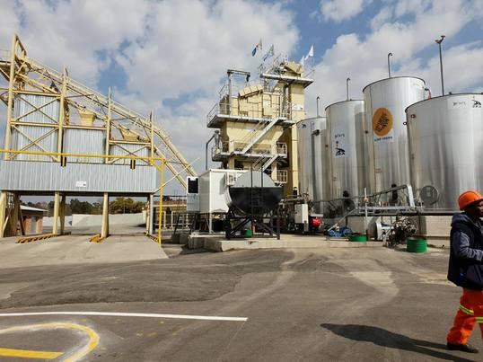 The new asphalt plant in the south of Joburg. Photo: Facebook/Mayor Herman Mashaba