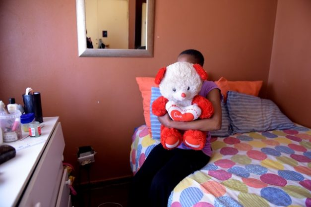 The mother of one of the babies that was switched at birth at a Boksburg hospital poses for a picture at her home in Vosloorus, 27 August 2018.  The two babies were switched at birth 8 years ago and are waiting to hear about a settlement after suing the health department.  Picture: Tracy Lee Stark