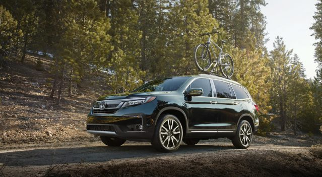 The new model is likely to borrow heavily from the 2019 Honda Pilot , seen here