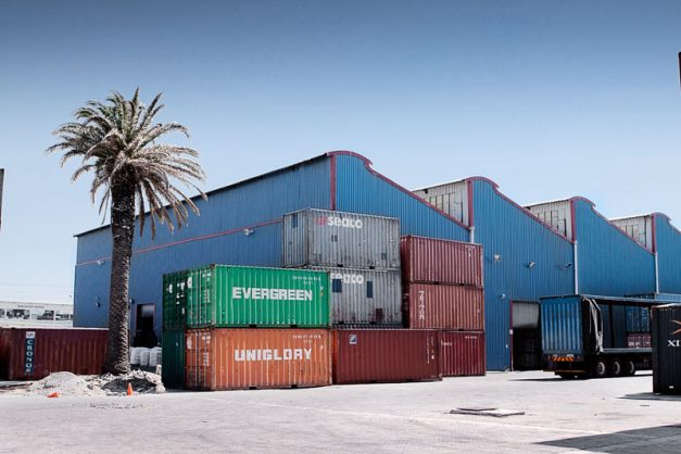 Containers at one of Grindrod Intermodal's storage facilities. Image: Grindrod Intermodal website