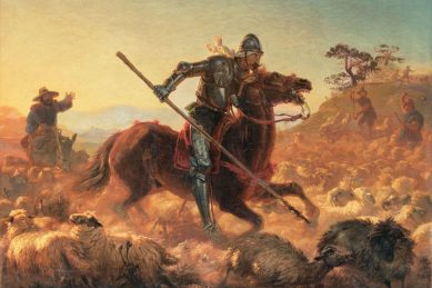 A knight in shining armour, or Don Quixote?