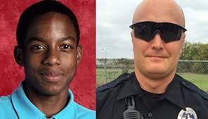 Left: Teen Jordan Edwards.  Right: Police officer Roy Oliver.