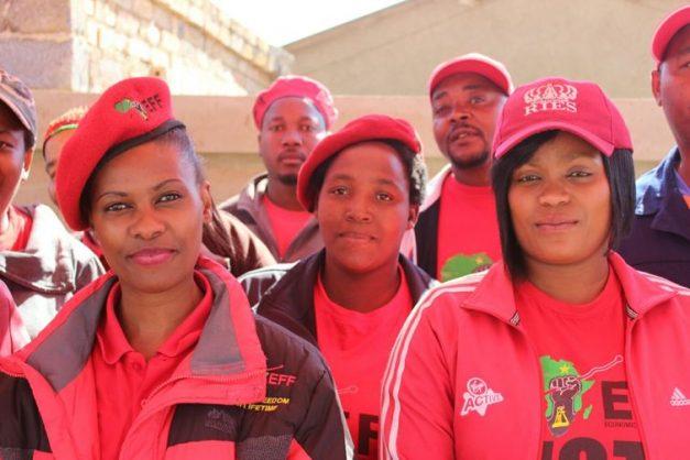 Lulama Memela, Vusi Mahlasela (Behind,) Phumzile Ntshangase, Vusi Sithole (Behind,) and Pamela Mazibuko stand as one.