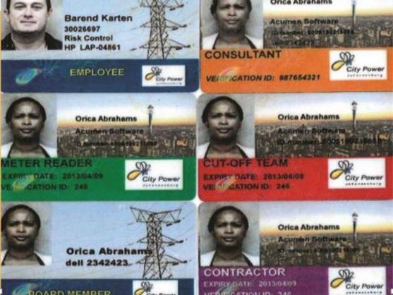 PROOF: These are examples of legitimate City Power identification cards that every City Power employee will carry around when they come to do any job at a customer's residence.