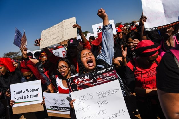 Some of the two thousand women that gathered to march to the Union Buildings are seen in Marabastad, 1 August 2018, Pretoria. Picture: Jacques Nelles