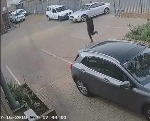 A screenshot of the CCTV footage. Image: Facebook/Autobumbum
