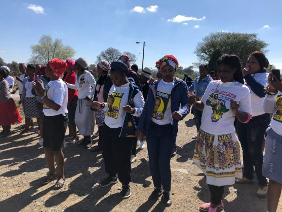 Protesters march at the Alfred Duma Local Municipality. Image: Ladysmith Gazette