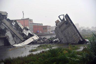Giant Italian bridge collapse wreaks havoc in city of Genoa