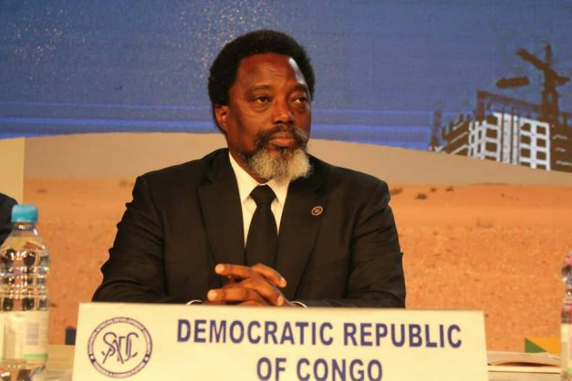 DRC President Joseph Kabila at the SADC Summit. Image: Twitter/@NewEraNewspaper