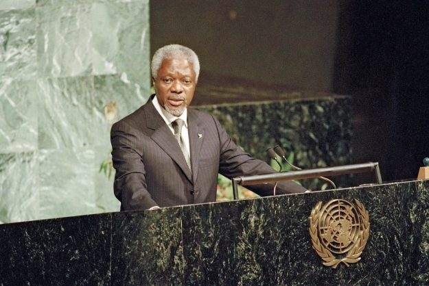 The late Kofi Annan. Image: Twitter/@UN