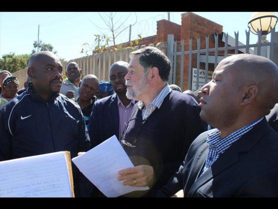 Tshwane's MMC responsible for Utility Service, Councillor Darryl Moss responding after receiving the memorandum.