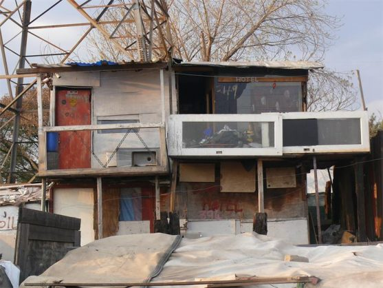 Mthandeni Mkhize loves his double-storey which has become an attraction to residents in Booysens informal settlement. Photo: Sibonelo Mtshali.