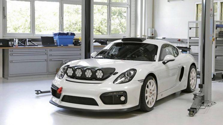 Porsche reveals Cayman GT4 Clubsport rally car concept