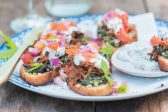 Recipe: Pulled lamb bruschetta with salsa and mint yoghurt