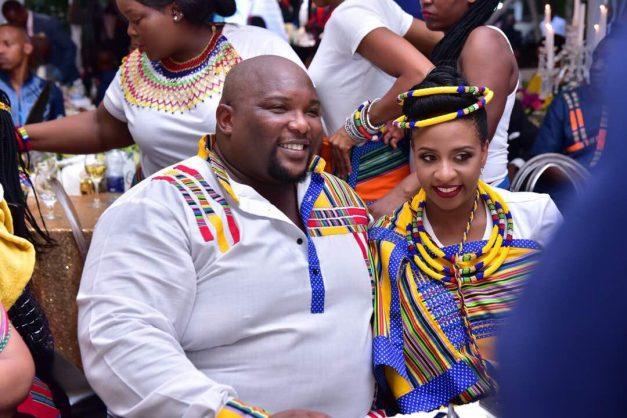Andile Ramaphosa and his fiancee Bridget Birungi.