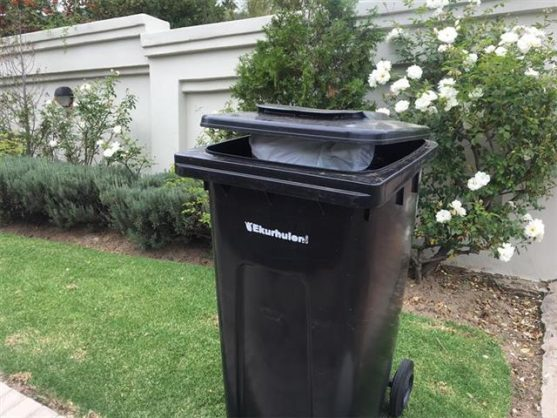Only the officially marked bins are sanctioned by the metro.