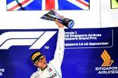 Hamilton wins Singapore Grand Prix to increase title lead
