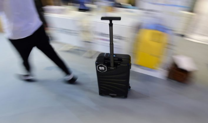 No more need to hunt for a trolley with the I-Porter suitcase. Picture: AFP/Tobias Schwarz
