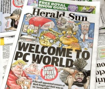 The Herald Sun's front page. Photo: AFP.
