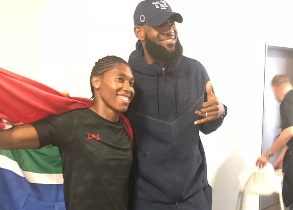 Lebron James flew to Berlin this past weekend to watch Caster Semenya race | Picture: Twitter.com