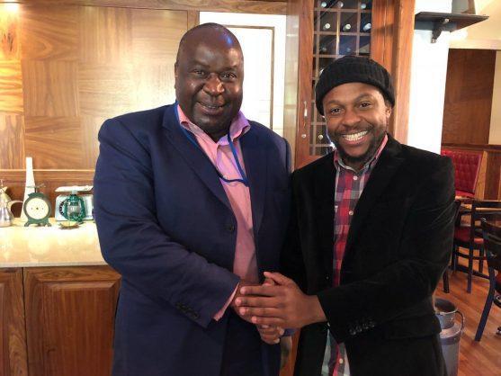 Tito Mboweni with Mbuyiseni Ndlozi. Picture: @titi_mboweni