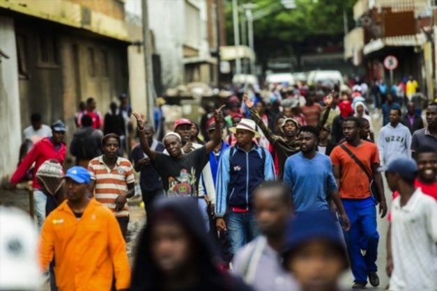 Protesters march through Pretoria during the Foreign March where South Africans from different areas protested against illegal immigrants on February 24, 2017. Picture: Gallo Images