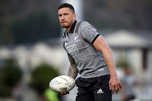 Sonny Bill Williams of the All Blacks during a New Zealand All Blacks training session at Trafalgar Park on September 6, 2018 in Nelson, New Zealand.  (Photo by Phil Walter/Getty Images)