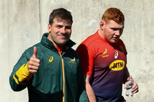 Schalk Brits during the South Africa Springboks Captain's Run at Westpac Stadium on September 14, 2018 in Wellington, New Zealand.