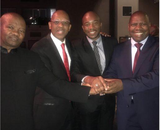 Bantu Holomisa, Dali Mpofu, Mmusi Maimane and Zweli Mkhize. Picture: Twitter/Dali Mpofu