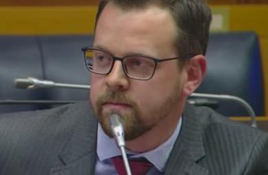 Afriforum deputy CEO Ernst Roets in parliament