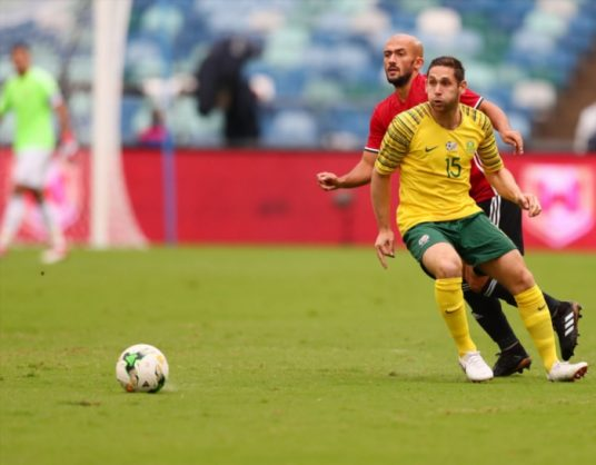 Dean Furman loses the ball during the 2019 Africa Cup of Nations qualifying match between South Africa and Libya at Moses Mabhida Stadiium on September 08, 2018 in Durban, South Africa. (Photo by Gallo Images)