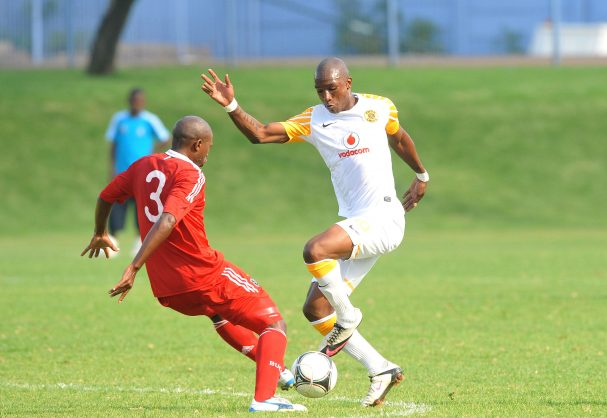Mthokozisi Yende in action for Kaizer Chiefs against Orlando Pirates (Photo by Duif du Toit / Gallo Images)