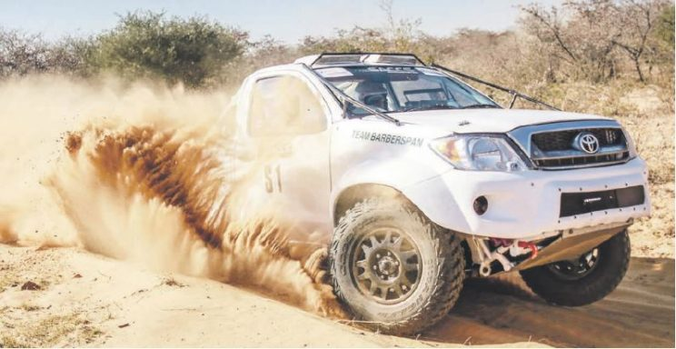 CONTENDERS. Jannie and Chris Visser (Toyota Hilux) will be chasing Class T podium places in the weekend's Harrismith 400 race. Pictures: Nadia Jordaan