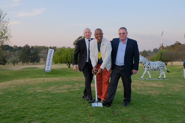 Investec Property officially launched the development and partnership with a ceremonial sod-turning at the Mayoral Charity Golf Day with Joburg Mayor Herman Mashaba (centre), Brian Biebuyck, chairman of the Wanderers Golf Club, and Robin Magid, director of Investec Property, at the Wanderers Golf Club on Friday, 31 August 2018. Picture: ANA