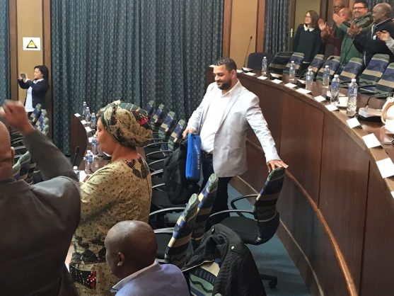 DA councillor Neville Higgins, who said he's resigning from politics at the Nelson Mandela Bay council meeting, 7 September 2018. Picture: ANA