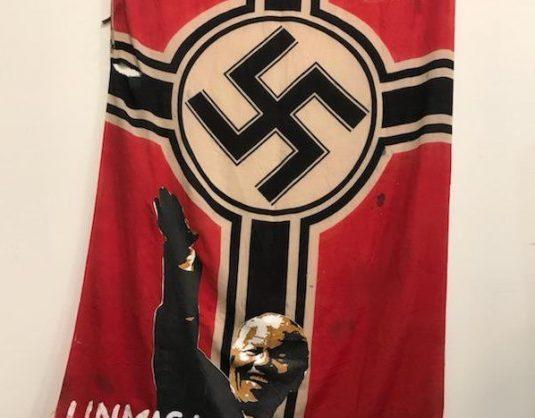 Ayanda Mabulu labels Mandela a Nazi in 'Unmasked Piece of Sh*t' painting