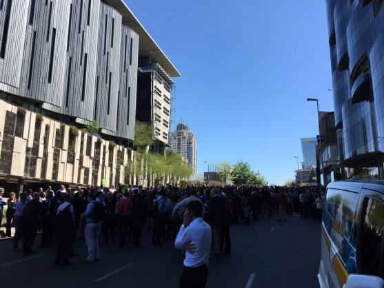 The scene on Rivonia Road. Image: Twitter/@TrafficSSA